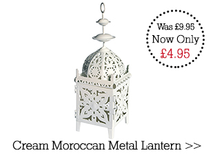 Special Offer Cream Moroccan Metal Lantern