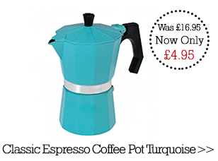 Special offer Classic Espresso Coffee Pot Turquoise