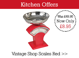 Special Offer Vintage Shop Scales Red